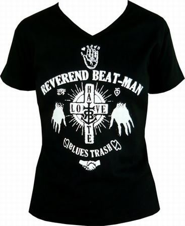 Beat-Man - Hands - Girl-Shirt schwarz