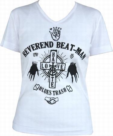 Beat-Man - Hands - Girl-Shirt weiss