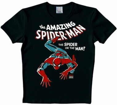Logoshirt - Spiderman Kids Shirt - Marvel - Schwarz