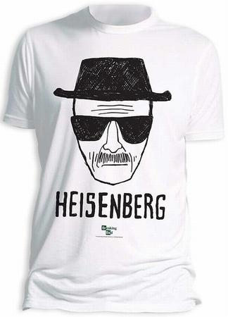 Breaking Bad T-Shirt Heisenberg Walter White - weiss