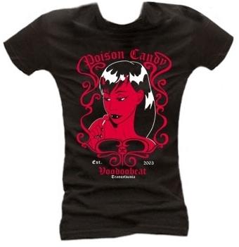 Poison Candy - Girl Shirt schwarz