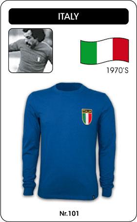 Italien Retro Trikot Langarm Blau