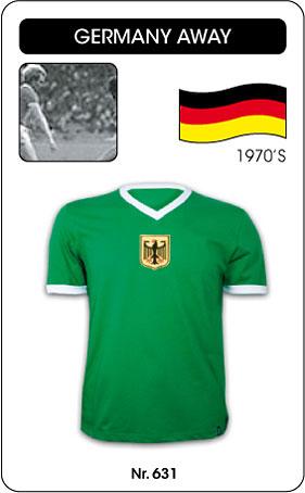 Deutschland Retro Trikot Grün Auswärts