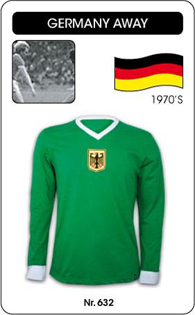 Deutschland Retro Trikot Grün Langarm