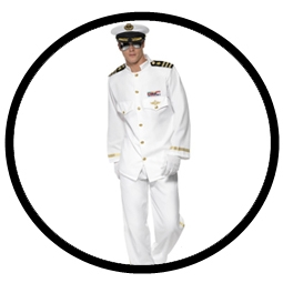Kapitän Kostüm weiß -  Navy Offizier Captain - Klicken für grössere Ansicht