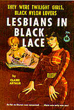 Pulp Fiction Covers - Lesbians in black Lace