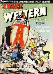 Weird Comics Covers - Space Western
