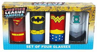 Gläser 4er Pack - Justice League - Superhelden