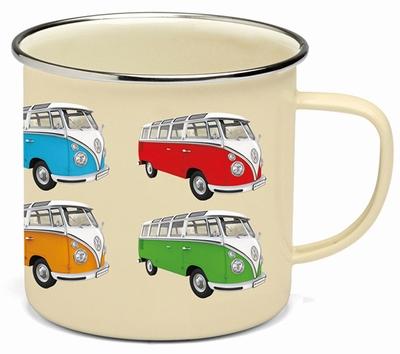 VW BULLI Emaille Tasse - Bulli Parade