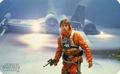 Frühstücksbrettchen - Star Wars - Luke in front of X-Wing