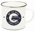 VW BULLI EMAILLE TASSE - ON THE ROAD