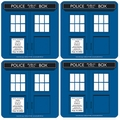 UNTERSETZER 4ER SET - DOCTOR WHO (DR. WHO - TARDIS)