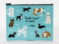 ZIPPER TASCHE - PEOPLE TO MEET: DOGS