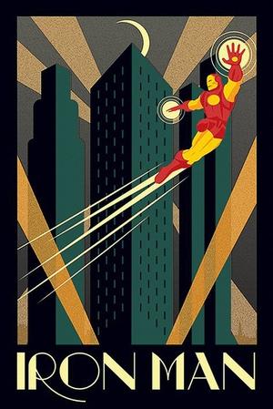 Iron Man Art Deco - Poster