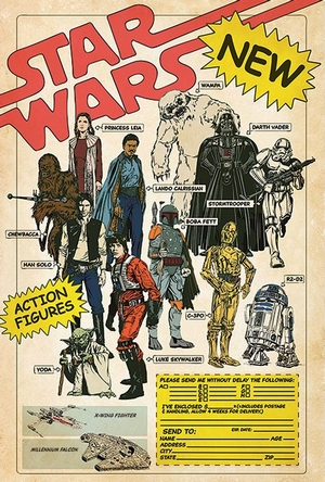 Star Wars Poster Action Figures