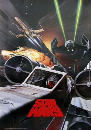 Star Wars Poster Battle in Death Star Canal