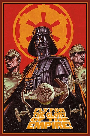 Star Wars Poster Darth Vader Luftkampf