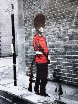 Banksy Poster Queens Guard