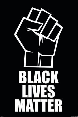 Black Lives Matter Poster Fist