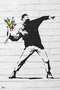 Banksy Poster Throwing Flowers