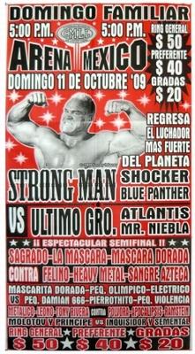 G.T.W.A - Lucha Libre Poster - Strong Man-11 Okt 09