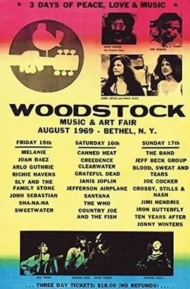 Woodstock Poster Line Up