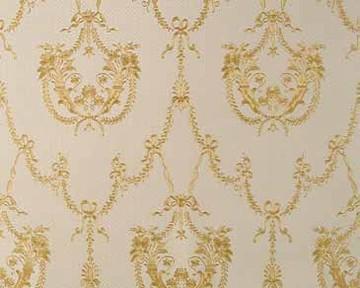 Tapete - Hermitage V - Weiß Gold