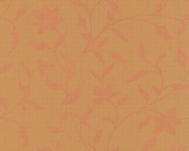 Tapete - Flock II - Ocker - Floral