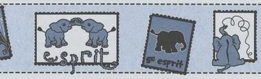 Tapete - Wild Safari - Bordüre Blau