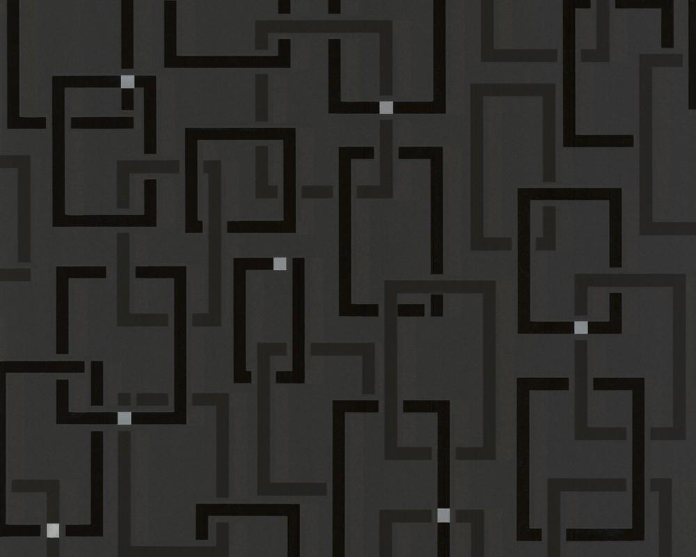 Moderne tapete schwarz  TAPETE - SPOT - SQUARE SCHWARZ - Spot - Retro Tapeten präsentiert ...