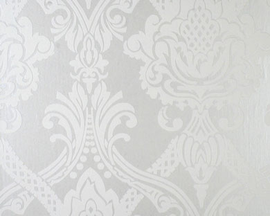 tapete flock metallic weiss - Tapeten Mit Muster