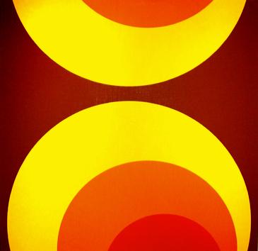 Kreise Braun - Retro-Tapete