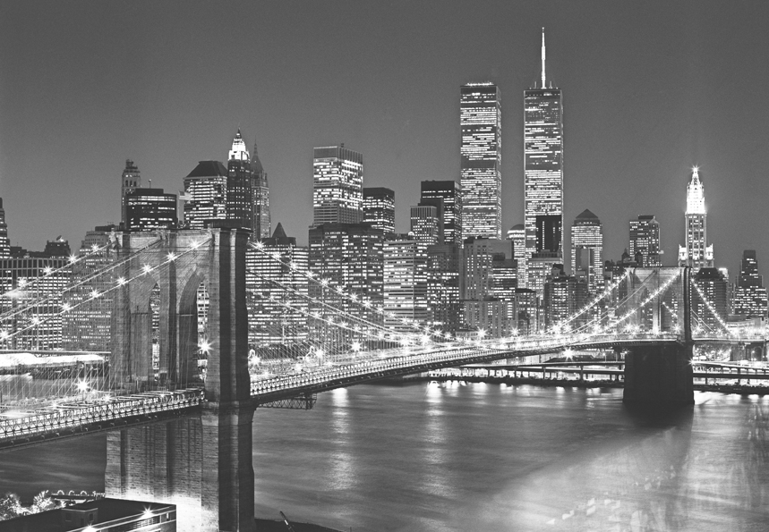 k 39 n 39 k fototapete new york schwarz wei brooklyn bridge. Black Bedroom Furniture Sets. Home Design Ideas