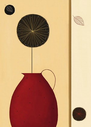 Fototapete rote vase foto retro tapeten pr sentiert for Rote tapeten wandgestaltung