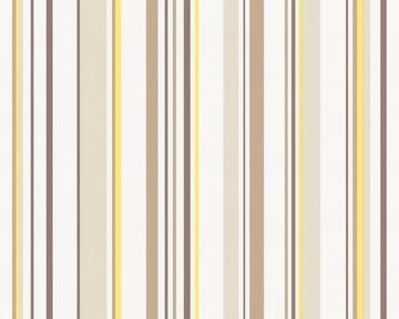 Tapete - Springtime 3 - Streifen - Gelb