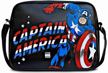 Marvel - Captain America Tasche - Schwarz - Kunstleder