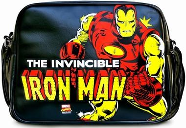 Marvel - Iron Man Tasche - Schwarz - Kunstleder