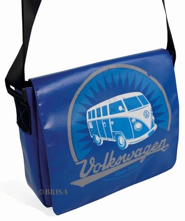 VW Bulli Schultertasche klein - blau