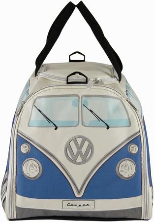 VW Bus T1 Sporttasche Blau/Beige