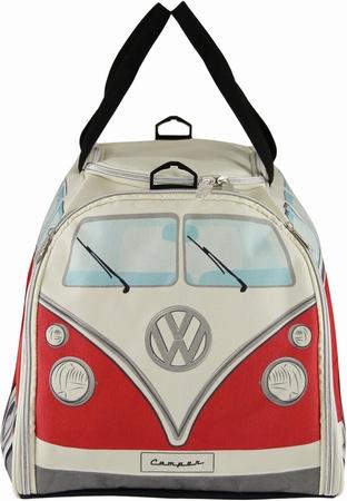 VW Bus T1 Sporttasche Rot/Weiß