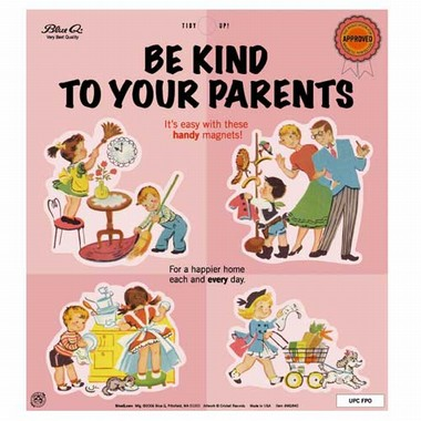 Be kind to your parents Magnet Set