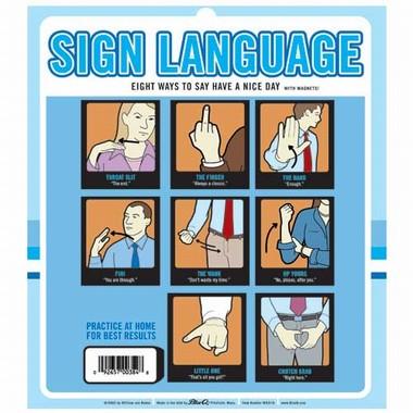 Zeichensprache Magnet Set