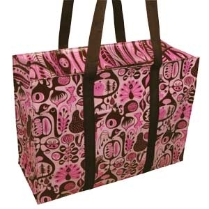 Schultertasche - Pink and Brown