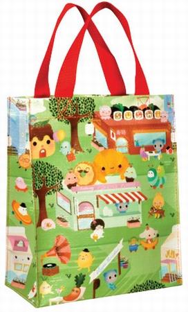 Happy Food Town Shopper klein - Tragetasche