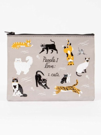 Zipper Tasche - People I Love: 1. Cats
