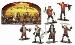 Skeleton Pirates Play Set Glow